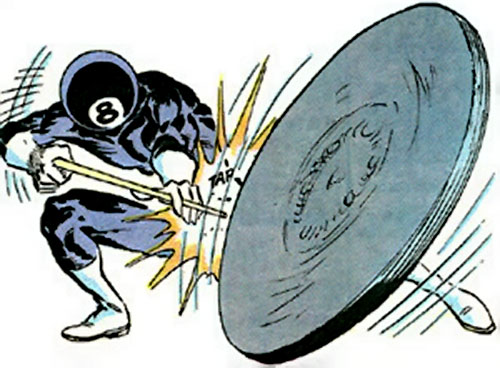 8-ball (Marvel Comics) uses a manhole cover as a projectile