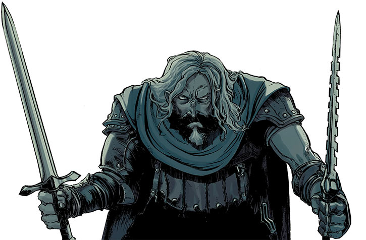 Ser Aaron Hawthorne (Dragon Age: Knight Errant comic) battle deadly