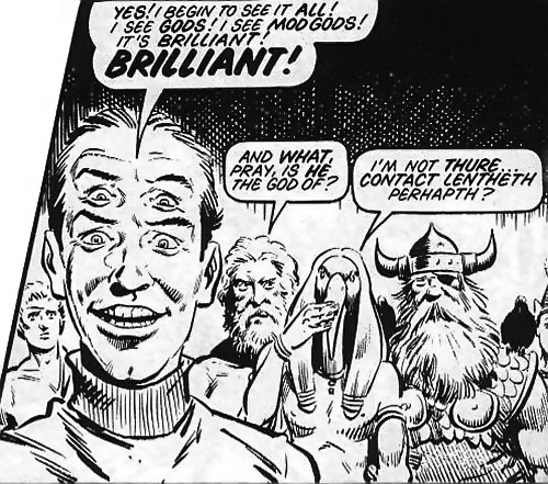 Abelard Snazz (Alan Moore's Twisted Times comics) among gods
