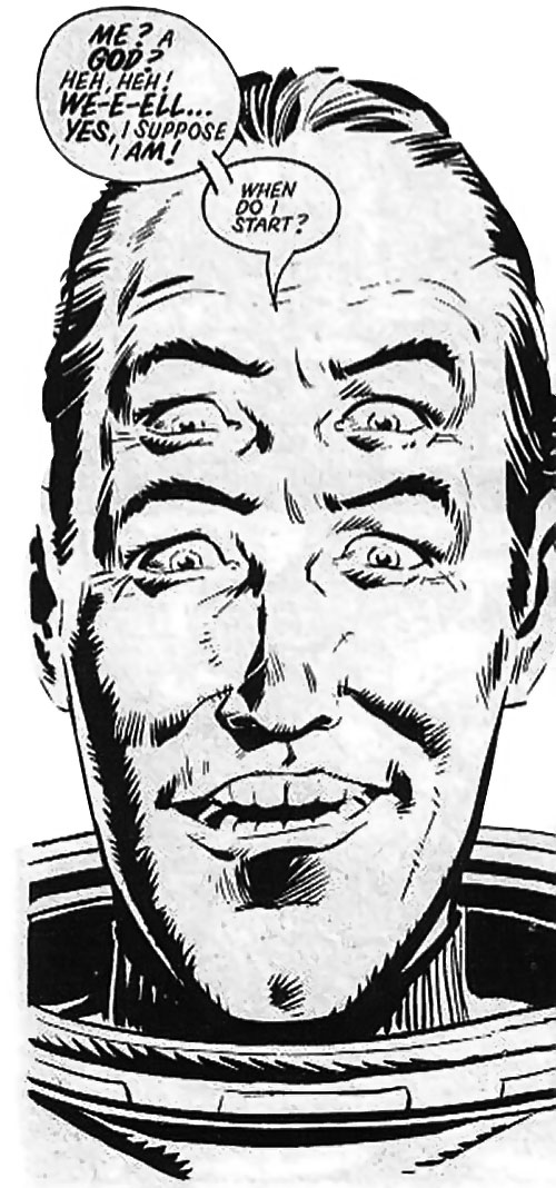 Abelard Snazz (Alan Moore's Twisted Times comics) happy face closeup