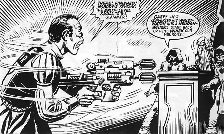 Abelard Snazz with a gun