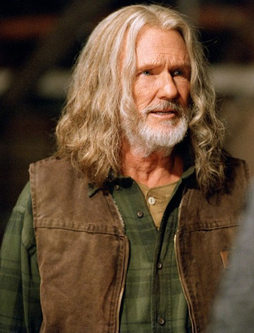 Abraham Whistler (Kriss Kristofferson in Blade) closeup