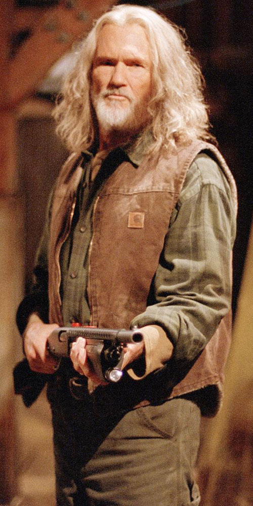 Abraham Whistler (Kriss Kristofferson in Blade) with a shotgun