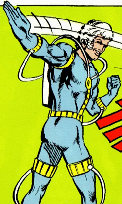 Absorbancy Boy (Legion of Super-Heroes character) (DC Comics) in the light blue costume