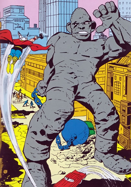 The Absorbing Man as a stone giant