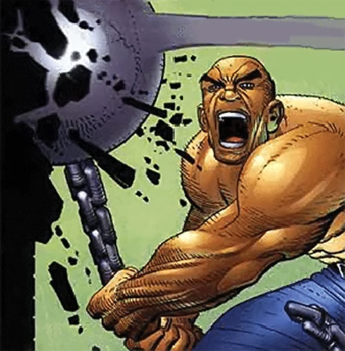 The Absorbing Man hitting with his ball and chain