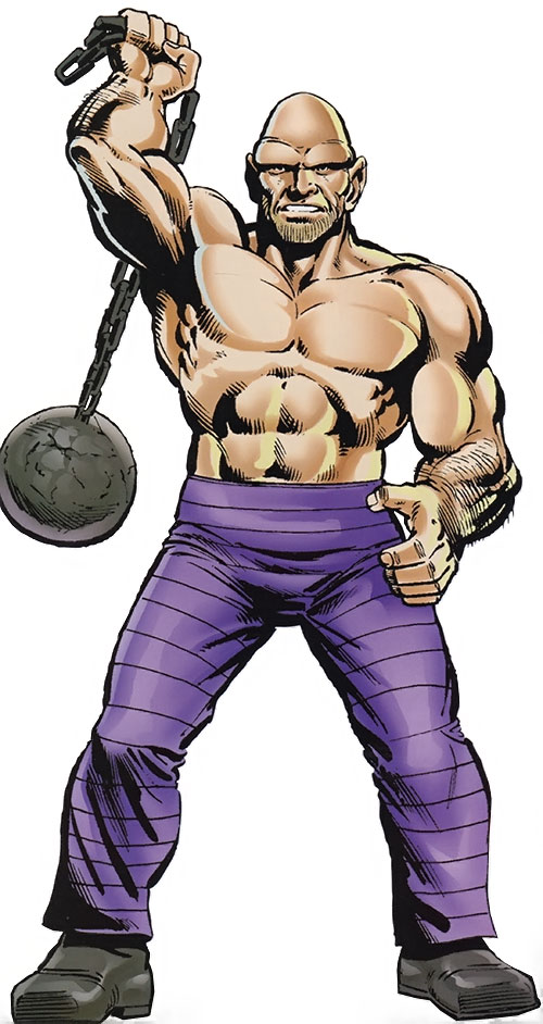 The Absorbing Man over a white background