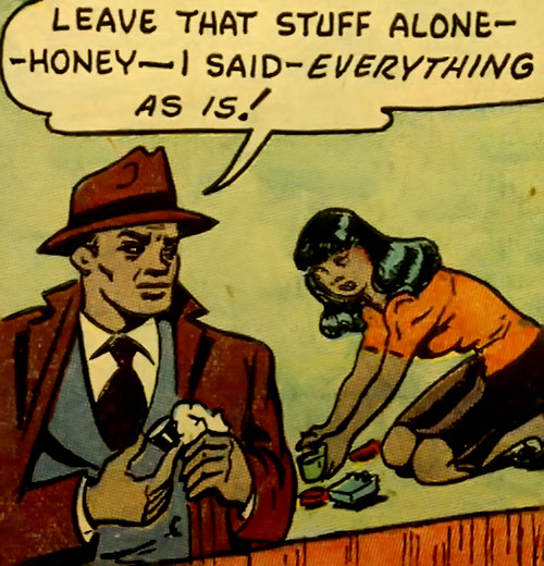 Ace Harlem (All-Negro Comics) and a waitress