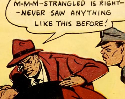 Ace Harlem (All-Negro Comics) examines a clue