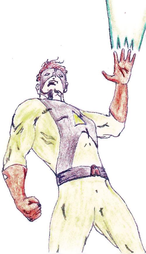 Acid (DC Heroes RPG Player Character) shooting acid