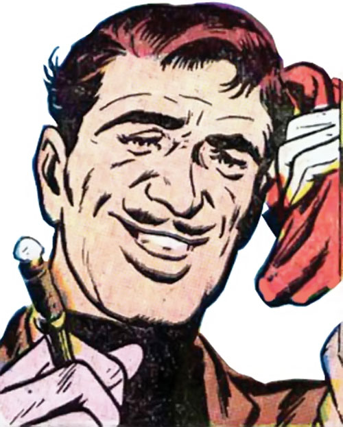 The Acrobat (Human Torch enemy) (Marvel Comics) face closeup