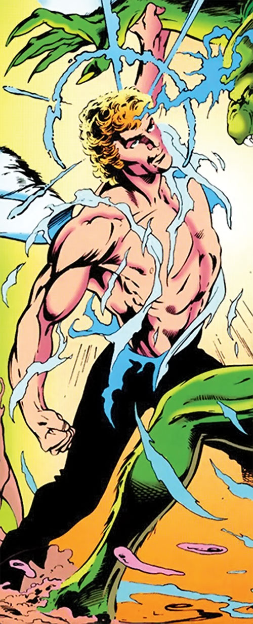 Adam Destine of Clan Destine (Marvel Comics) fighting in a torn shirt