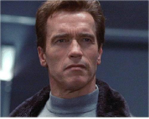 Adam Gibson (Arnold Schwarzenegger in The Sixth Day) face closeup