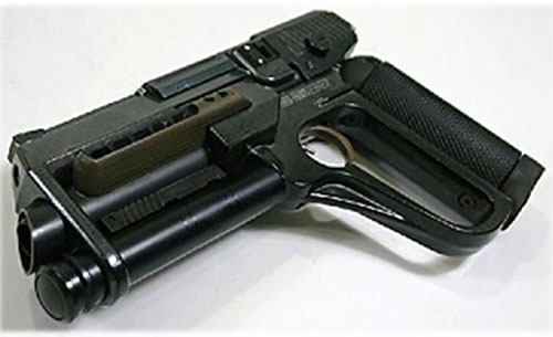 Futurist pistol from the movie The Sixth Day