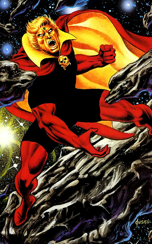 Adam Warlock (Marvel Comics) with the black bodysuit, by Jusko