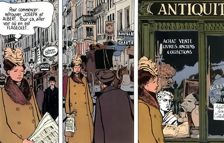 Adele Blanc-Sec - French comics - Tardi - Paris streets 1910s