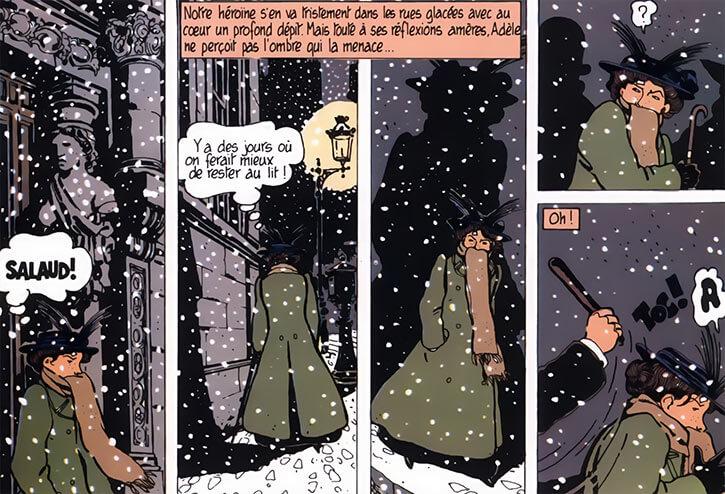 Adele Blanc-Sec - French comics - Tardi - Embuscade nocturne