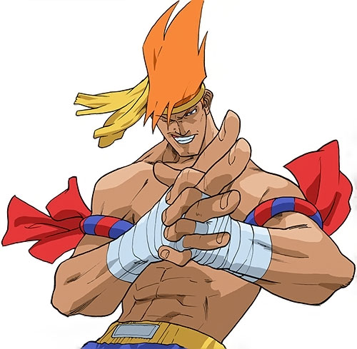 Adon (Street Fighter video games) preparing his knuckles