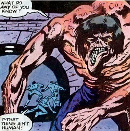 Adonis (Marvel Comics) (Captain America enemy) in Central Park