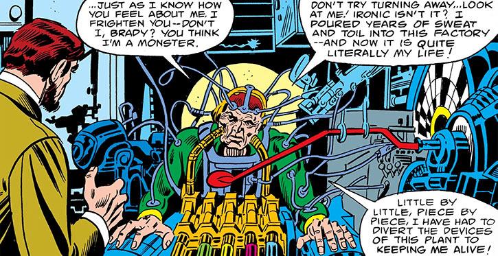 Eric Cameron (Marvel Comics) (Captain America foe) cybernetics before Adonis