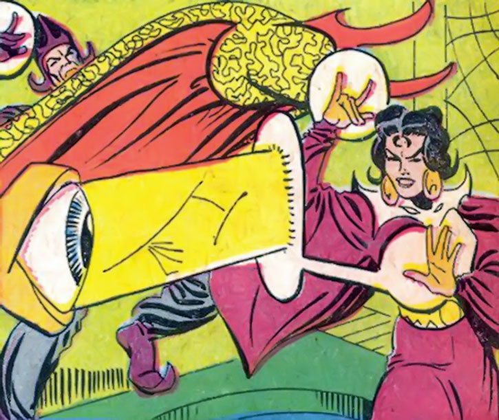 Adria the witch vs. the Eye of Agamotto