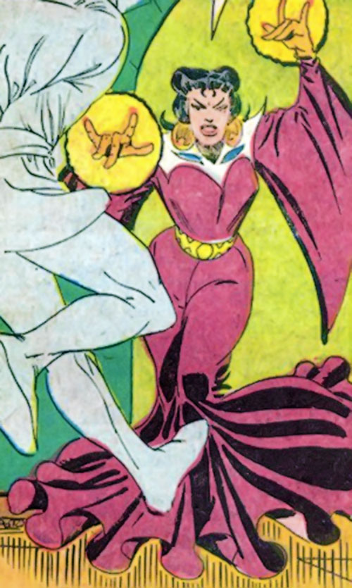 Adria the Witch (Doctor Strange enemy) (Marvel Comics) casting a spell