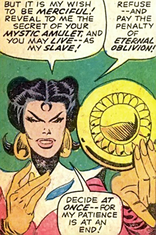Adria the Witch (Doctor Strange enemy) (Marvel Comics) and the Eye of Agamotto