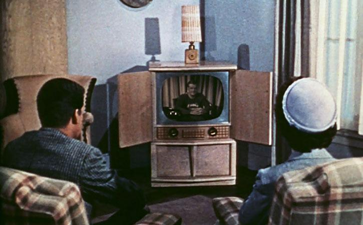 Watching Superman (George Reeves) on television