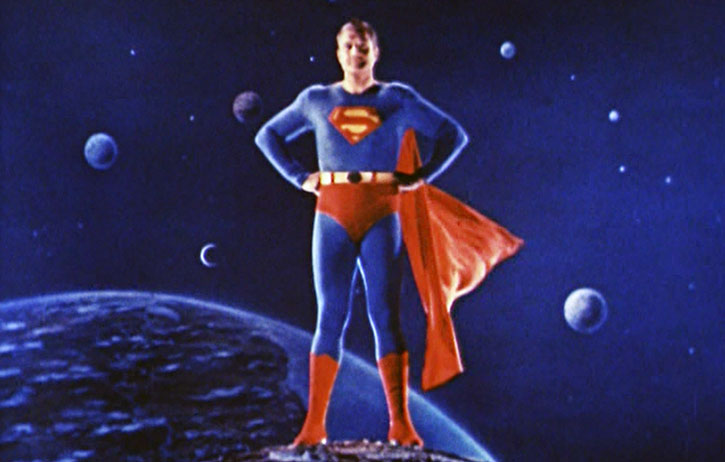 Reeves' Superman in color