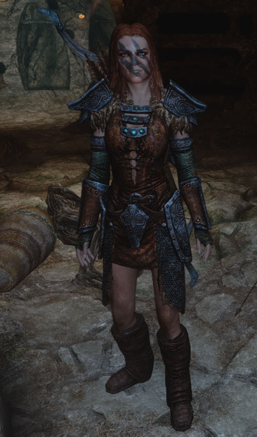 Aela the Huntress of Skyrim - adventuring underground