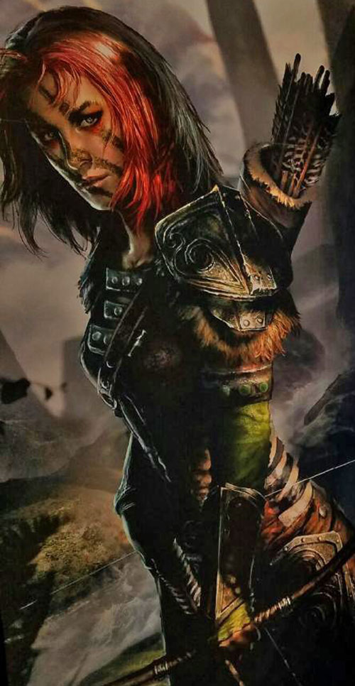 Aela the Huntress - Skyrim - card art