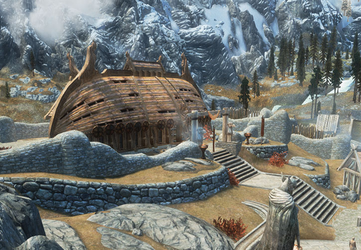 The Companions' headquarters in Whiterun, Skyrim