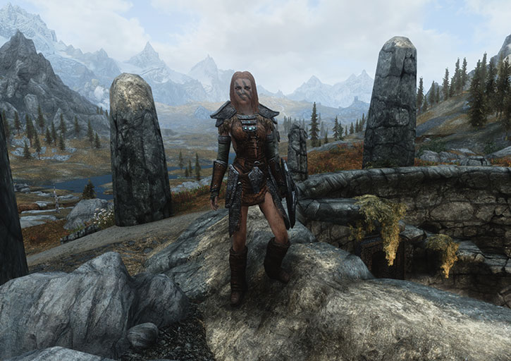 Aela the Huntress and Skyrim valley
