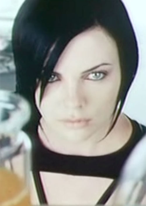Aeon Flux (Charlize Theron) face close up