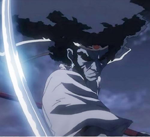 Afro Samurai in the night
