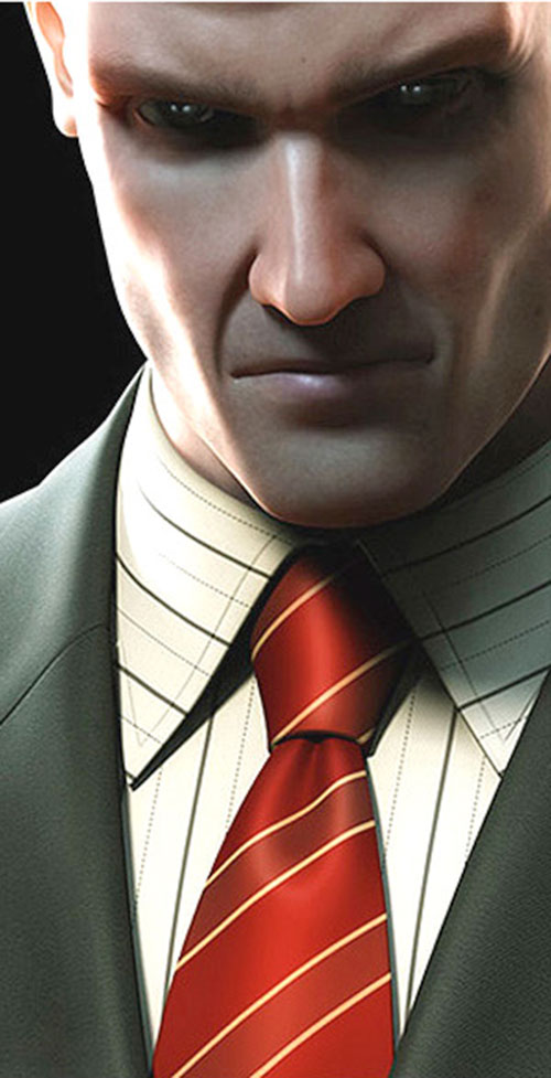 Agent 47 (Hitman) face closeup
