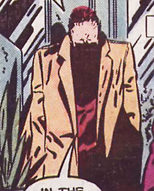 Agent Crock the Backward Man (Daredevil / Black Widow character) (Marvel Comics) with features obscured