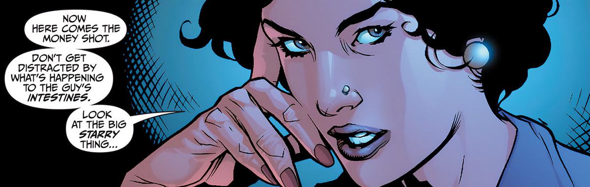 Agent Helligan face closeup
