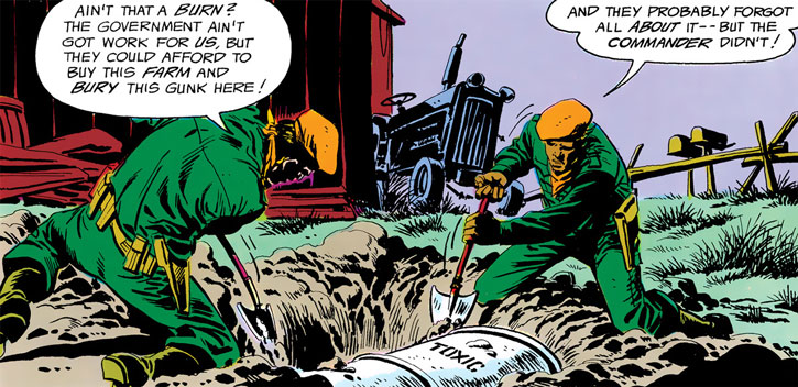 Soldiers working for Agent Orange (Batman and the Outsider enemy)