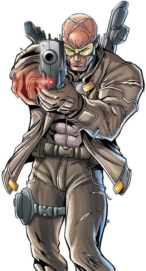 Agent X (Marvel Comics) aiming his pistol