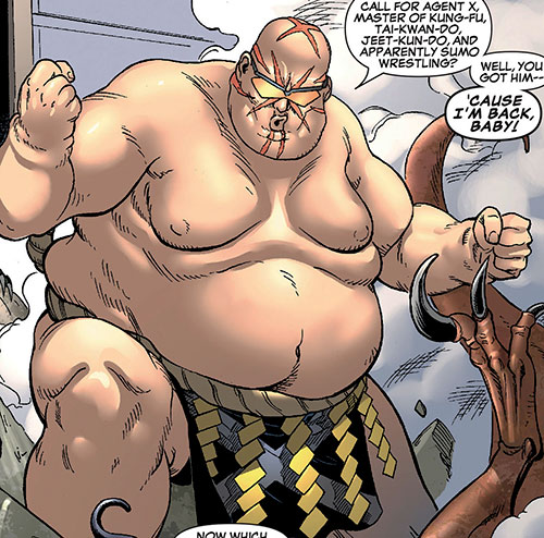 Agent X (Marvel Comics) as a sumo wrestler
