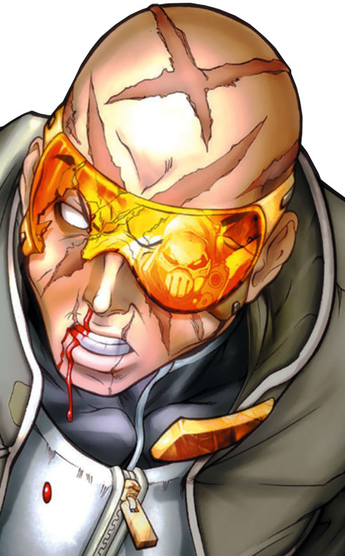 Agent X (Marvel Comics) bloodied face closeup