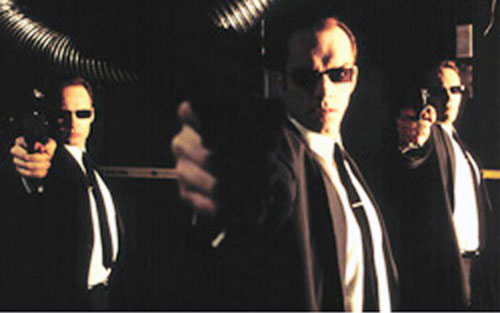 Agents (The Matrix) pointing their guns