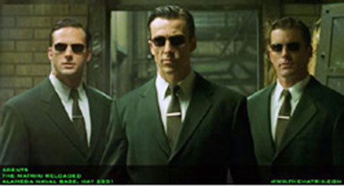 Agents (The Matrix) trio