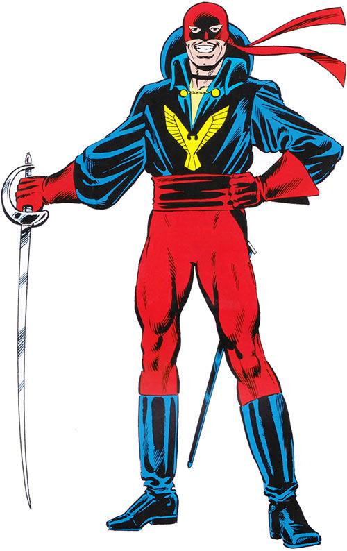 El Aguila in the 1983 Official Handbook Marvel Comics