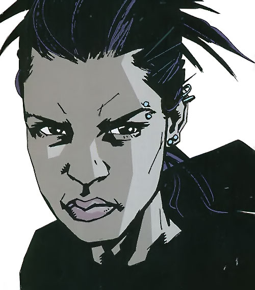 Aisha of the Losers (DC Comics) face closeup