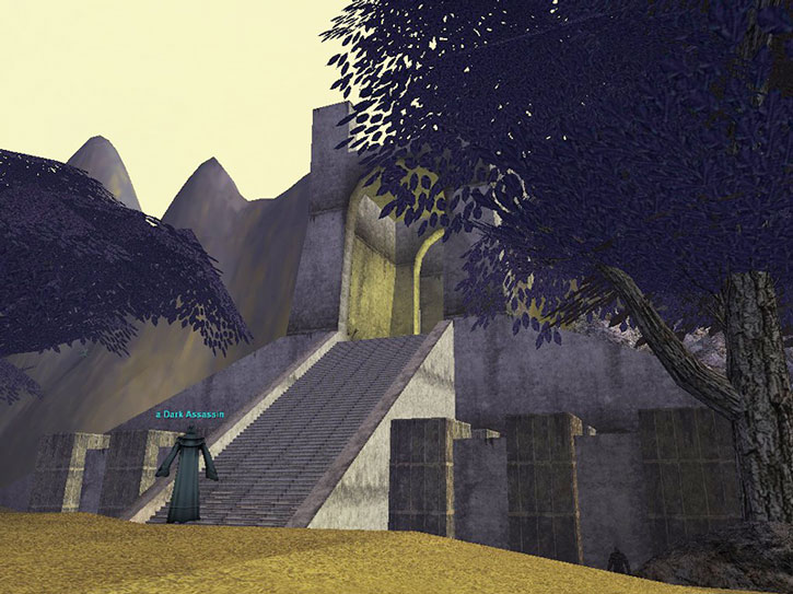 Everquest I - the entrance of the Akheva city of Vex Thal