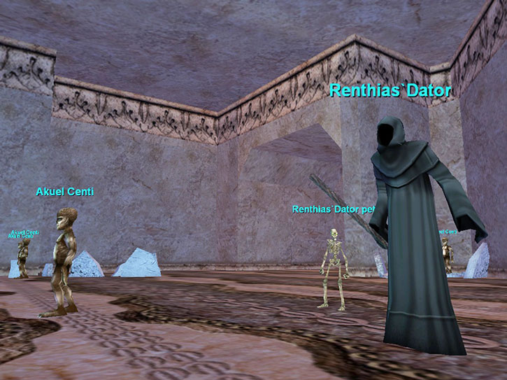 Ghost Akheva and centi servants in Everquest