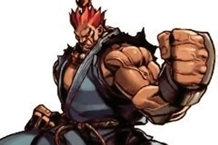 Akuma fighting stance