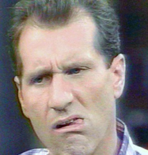 Al Bundy (Ed O'Neill in Married with Children) making a face